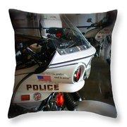 Lapd Motorcycle Throw Pillow