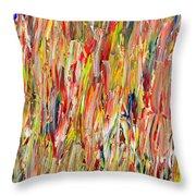 Large Acrylic Color Study 2012 Throw Pillow