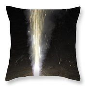 Large Amount Of Sparks From A Conical Firecracker During Diwali  Throw Pillow