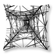 Large Electricity Powermast Throw Pillow