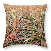 Large Field With Pineapples Throw Pillow
