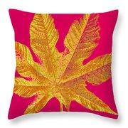Large Leaf Photoart Throw Pillow