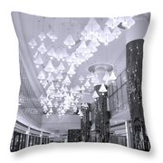 Large Mall Lobby Throw Pillow