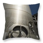 Large Steel Vat For Wine Making Throw Pillow