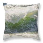 Large Waves On The Coast Of Maine Throw Pillow