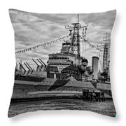 Largest In The Fleet Throw Pillow