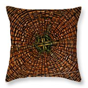Largest Round Barn Ceiling Throw Pillow