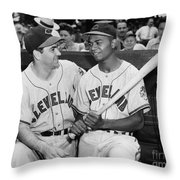 Larry Doby (1923-2003) Throw Pillow