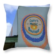 Larrys Music Boutique  Est 1952 Throw Pillow