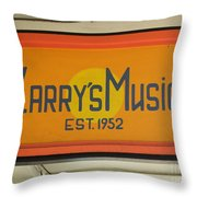 Larrys Music  Est 1952 Throw Pillow
