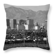 Las Vegas Suburbs Throw Pillow