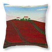 Laselva Heather Farm Throw Pillow