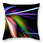 Laser Light Show Throw Pillow