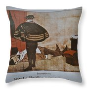 L'assassinat Du Duc De Guise Throw Pillow