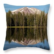 Lassen Peak Reflections Throw Pillow