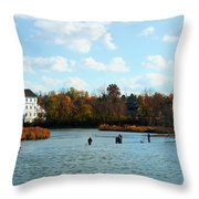 Last Cast  Throw Pillow