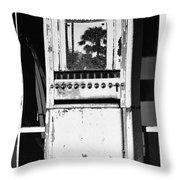 Last Cigarette Bw Palm Springs Throw Pillow