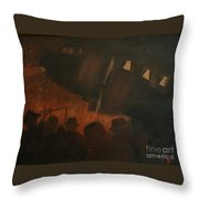 Last Flight Out Throw Pillow