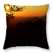 Last Golden Rays - Grand Canyon Throw Pillow