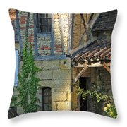 Last Light In Sarlat Throw Pillow