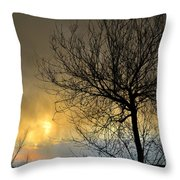 Last Light In The Storm Throw Pillow