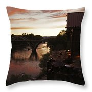 Last Light Over The Rogue Throw Pillow