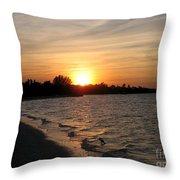 Last Rays Of Sun Throw Pillow