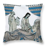 Last Rites, Middle Ages Throw Pillow