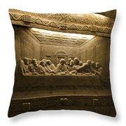 Last Supper - Wieliczka Salt Mine Throw Pillow