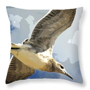 Last Winds Of Issac Posterized  Throw Pillow