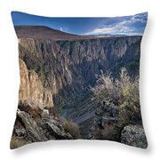 Late Afternoon At Black Canyon Of The Gunnison Throw Pillow