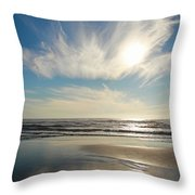 Late Afternoon On An Oregon Beach Throw Pillow