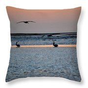 Late Comers Throw Pillow