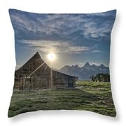 Late Evening At Moulton Barn Throw Pillow