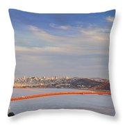 Late Evening Over San Francisco Throw Pillow