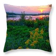 Late Summer Lake Throw Pillow