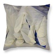 Latex Examination Gloves Throw Pillow