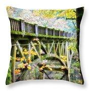 Latourel Creek Bridge Throw Pillow