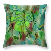 Laughing Lotus Throw Pillow