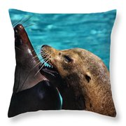 Laughing Seals Throw Pillow