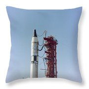 Launch View Of The Gemini-titan 3 Throw Pillow