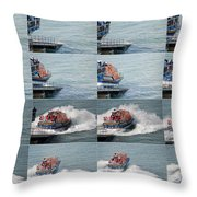 Launching The Lifeboat Throw Pillow