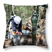 Laundry Time Throw Pillow