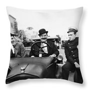Laurel And Hardy, 1928 Throw Pillow