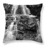 Laurel Falls In The Smoky Mountains Throw Pillow
