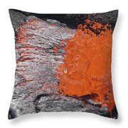 Lava Bursting At Edge Of Active Lava Throw Pillow