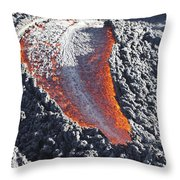 Lava Flow On The Flank Of Pacaya Throw Pillow