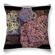 Lava Rocks Throw Pillow