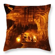 Lava Tube Throw Pillow