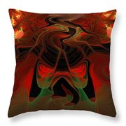 Red Hot Lava Throw Pillow